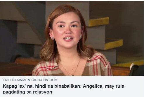 Angelica: Kung baga may pumasok na in between... may iba ng girl e... Know her rule pagdating sa relasyon DITO: bit.ly/2MGS7fn