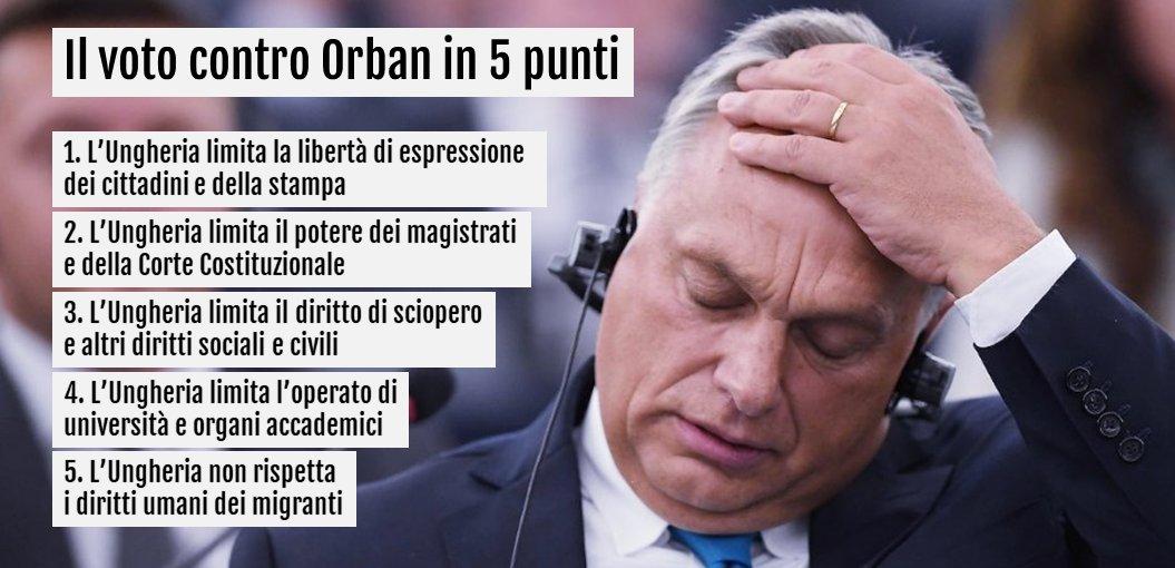 Il governo di Vitkor #Orban non rispetta i valori dell\