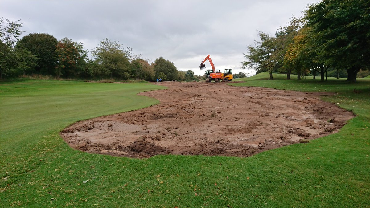 test Twitter Media - Work has started on the 16th hole, large bunker on left of the green has been levelled ready for redesign. I certainly won't miss raking that big #%£*%¥ ever again. https://t.co/TVUeGRaRl4