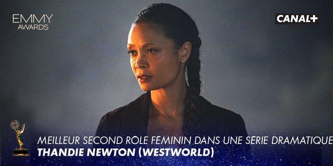#Westworld : - Meilleur second rôle féminin dans une série dramatique : Thandie Newton Disponible en intégralité sur myCANAL ▶ #Emmy Foto