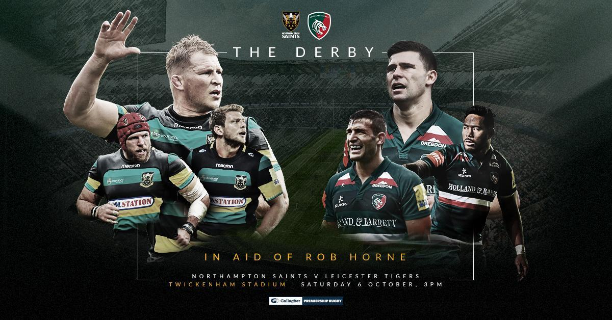 Watch Englands finest go head to head at Twickenham on 6 October when @SaintsRugby take on @LeicesterTigers at Twickenham 🌹 Heres your guide to The Derby: bit.ly/2MJsKJB