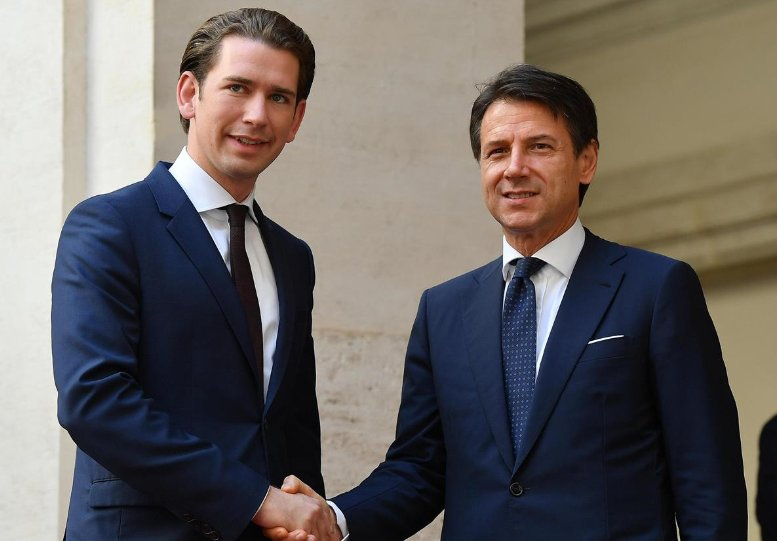 """#Migranti, faccia a faccia tra il premier austriaco #Kurz e il primo ministro #Conte che avverte: """"Per evitare un nuovo caso #Diciotti serve una risposta europea"""", cautela sul tema del doppio passaporto per gli altoatesini. Al #Tg2rai ore 13,00  - Ukustom"""