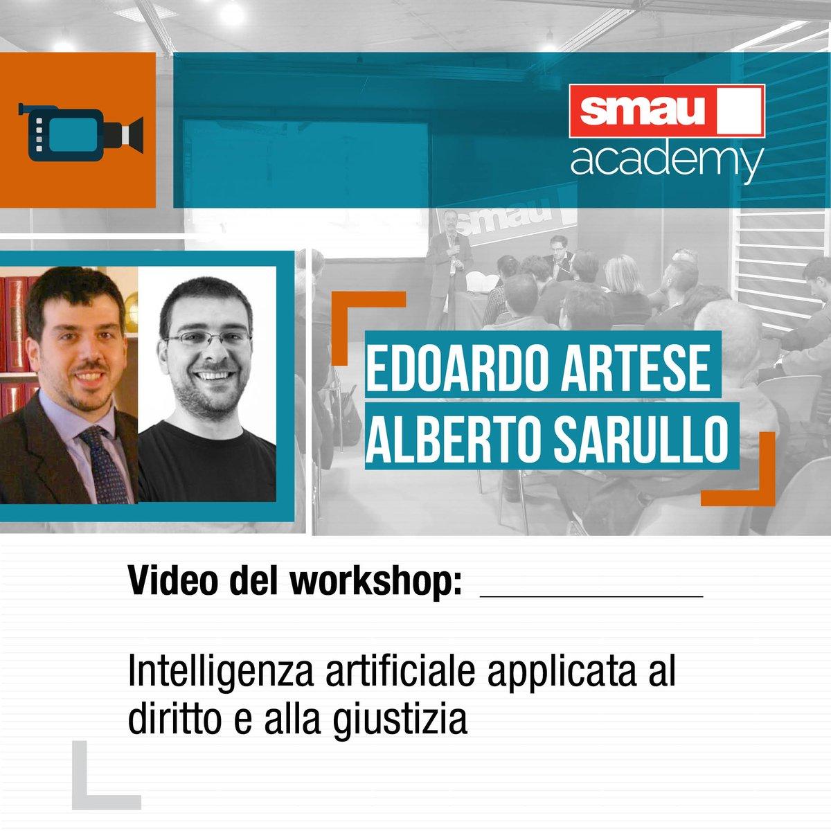 Questa settimana parliamo di #IntelligenzaArtificiale applicata al #diritto nel nuovo #podcast su #Smau Academy!Insieme ad @edoart79 @albertosarullo analizzeremo come possa essere applicata anche nell\