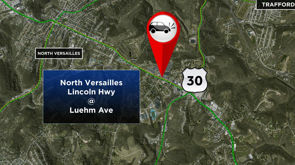 Crash in North Versailles on Lincoln Highway at Luehm Ave @KDKA