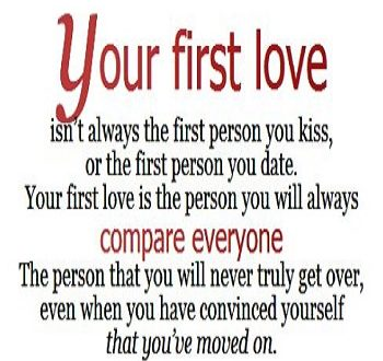 How do u get over your first love