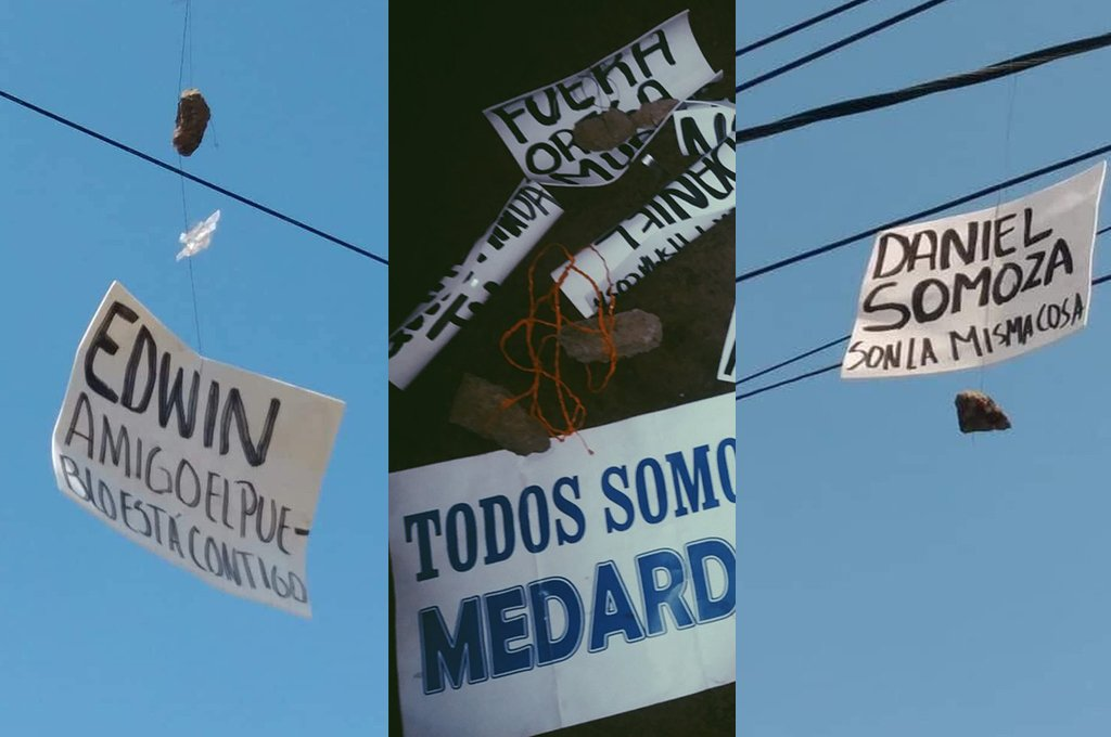 Carteles en el tendido eléctrico, la nueva forma de protestar contra #DanielOrtega.  ➡️Aquí te damos más detalles: https://t.co/EDJmZm60E9