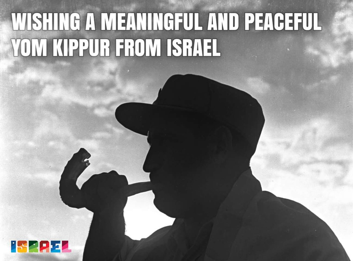 """According to Jewish tradition, on #YomKippur (beginning at sunset  18.9, concluding at nightfall 19.9), God inscribes each person's fate for the coming year.  We wish Jews in Israel & around the world """"Chatima Tova"""" & a meaningful holiday."""