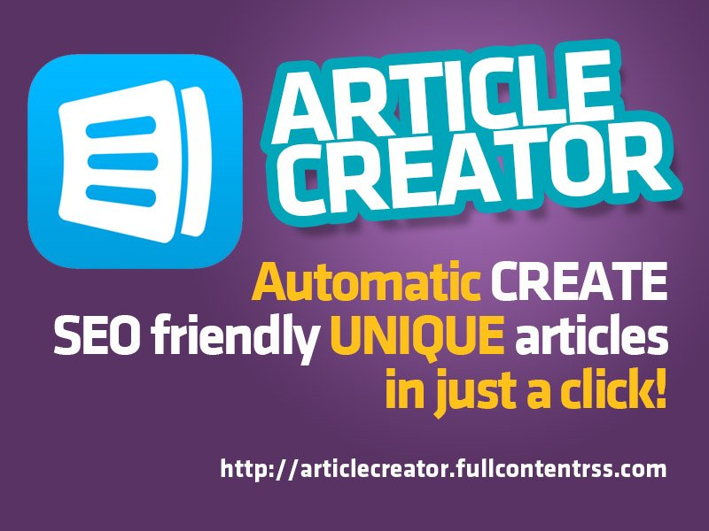 * ARTICLE CREATOR ONLINE * Create UNIQUE content in a click! pic.twitter.com/y1UXJ7nxpy * 7 Significant Content #Marketing Tips For 2020    https://ift.tt/33Zk4JD