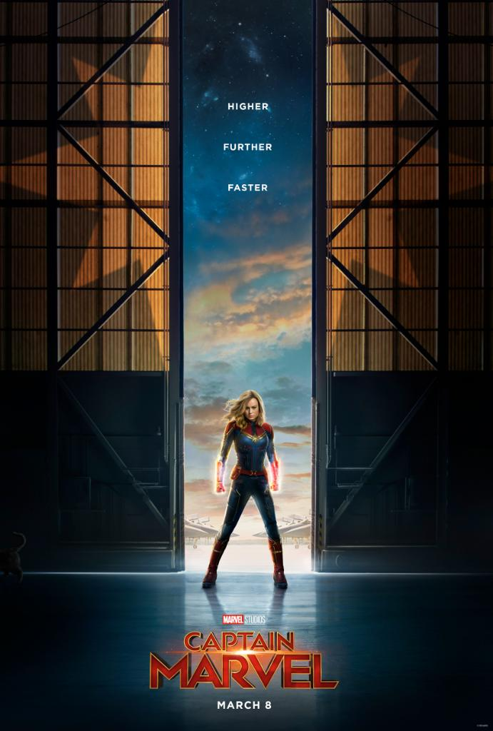 Heres your first look at the teaser poster for Marvel Studios' @CaptainMarvel, in theaters March 8, 2019. #CaptainMarvel