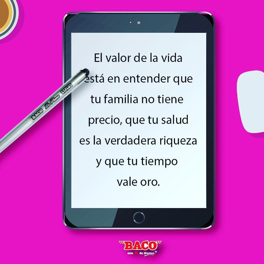 Baco Sa On Twitter Frase De La Semana Baco Familia