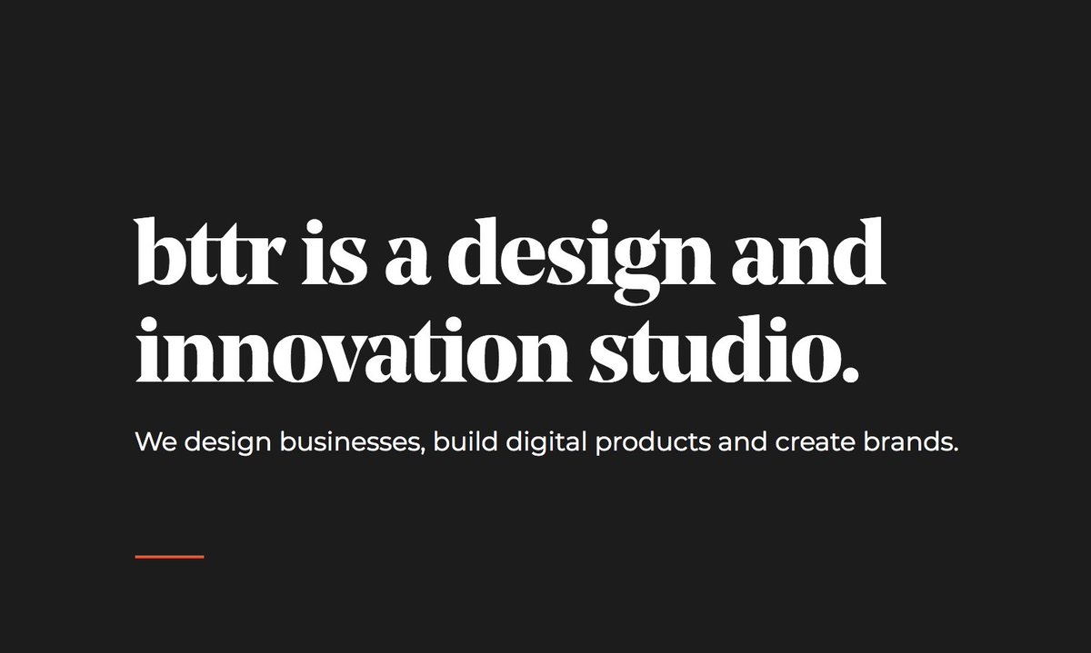 Our new website is live, expanding on our expertise and some of the work we've been doing this year. http://www.makebttr.com #business #design #brands #ventures #makebttr