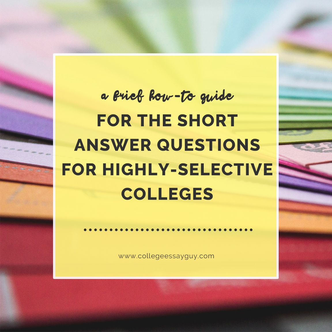You know those Common App short answer questions required by USC, Columbia, Stanford, UChicago, and Yale? This is a guide for answering those questions. With 11 tips. In a Dos and Dont's format. Check it out: goo.gl/GGRVc6