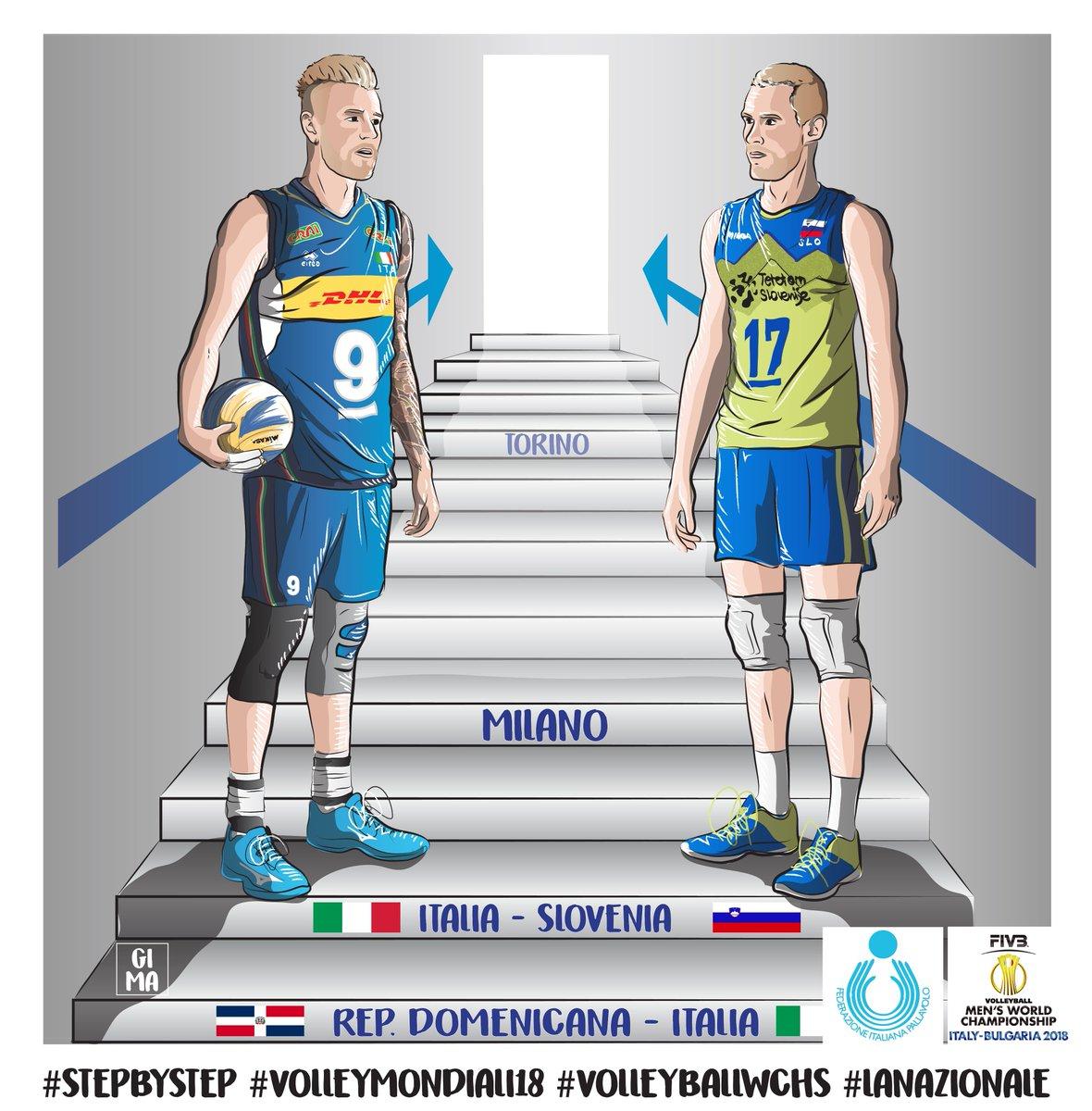 #VolleyballWchs #Firenze Step by step, stasera tocca a #ItaliaSlovenia  Ancora insieme alle 21.15 ( diretta @RaiDue ) per tifare #LaNazionale : @TimeOut_STORIES @FIVBVolleyball @SloVolley #VolleyMondiali18  - Ukustom