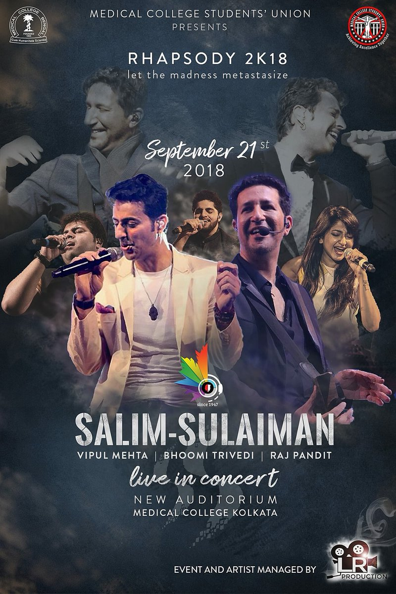 Salim Sulaiman On Twitter Kolkata Were Coming To Your City To