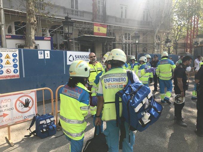 Un  muerto y otros once heridos por un derrumbe en las obras del hotel Ritz de Madrid