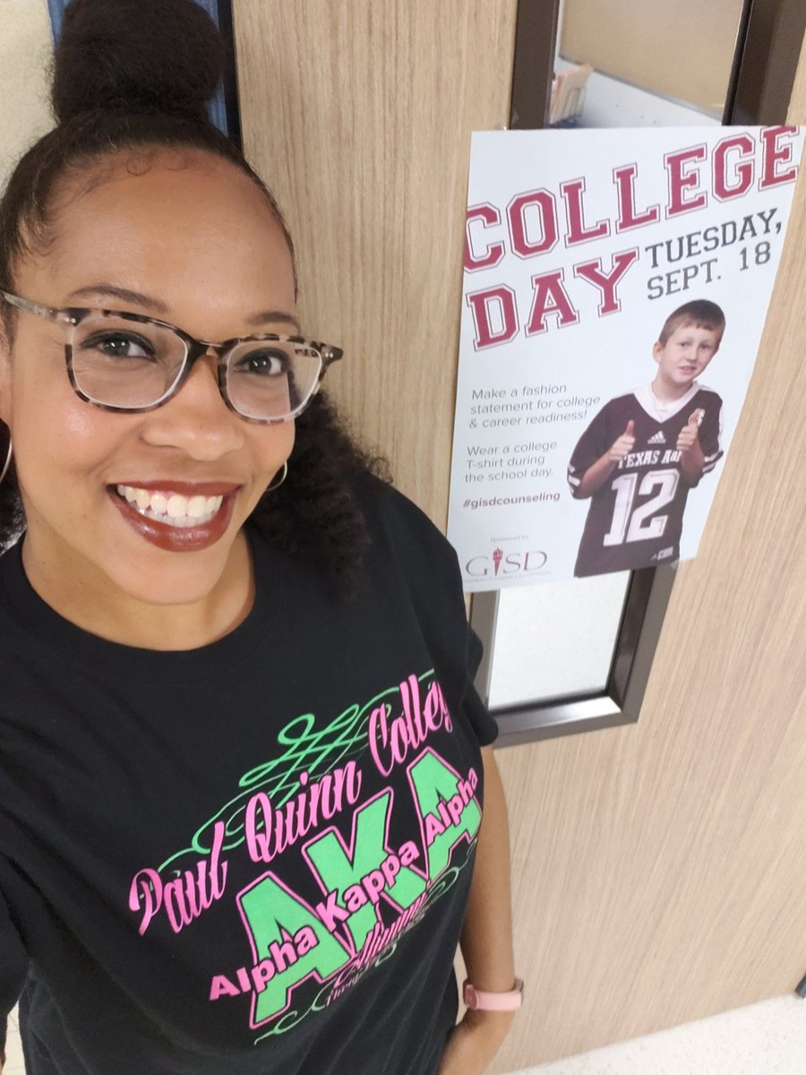 Reppin' my HBCU for college day! #PQC #SkeeWeeSorors #gisdcounseling  @BES_Cowboys @gisdcounseling