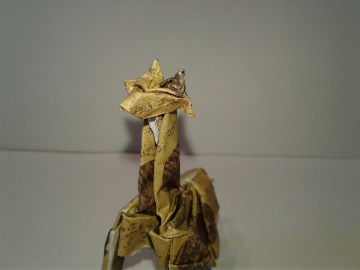 Origami Swoop On Twitter Giraffe From A Bird Base No Diagram Diagrams