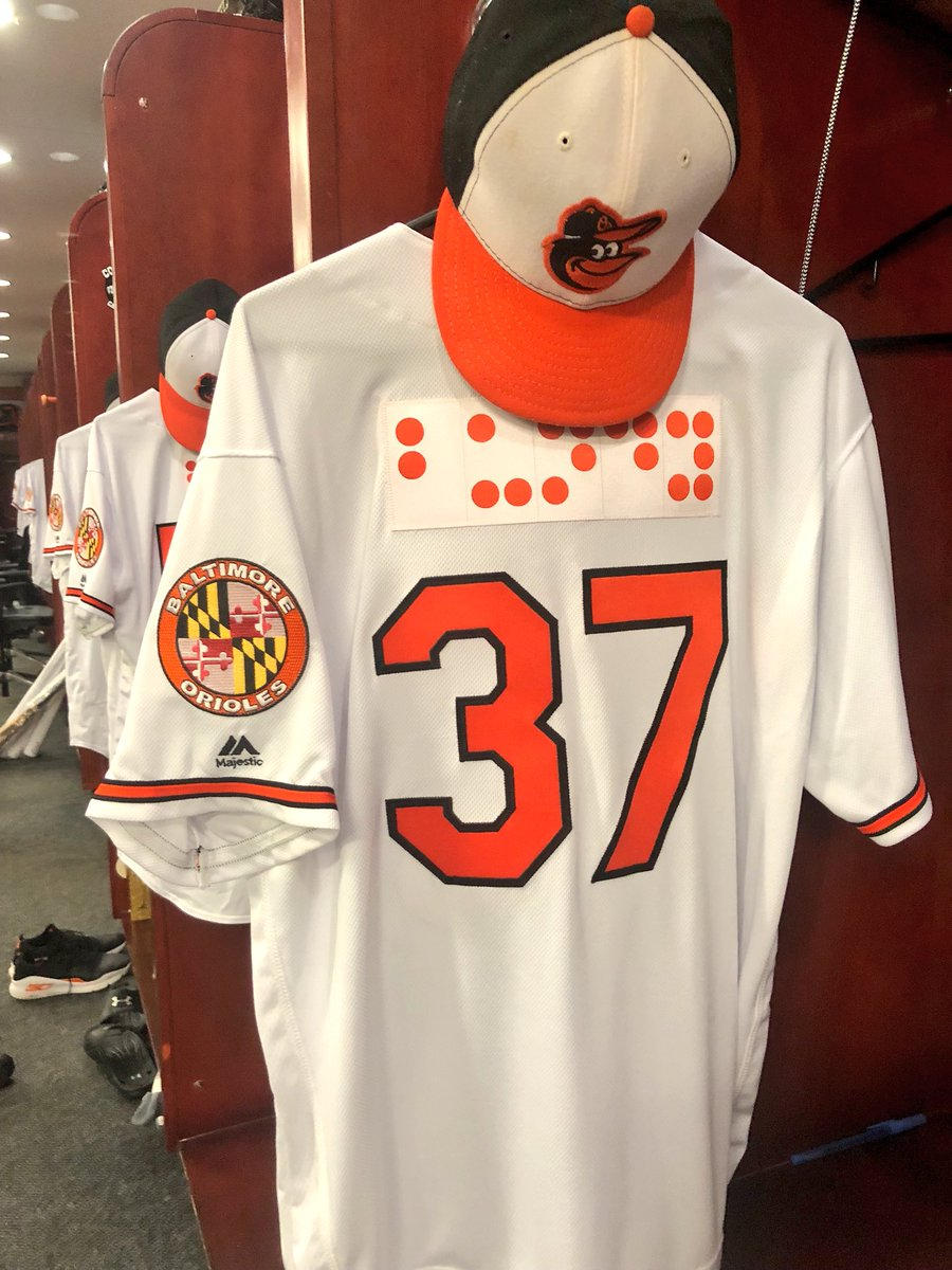 official photos 59a8b 39912 Braille jerseys at Camden Yards met with praise and criticism