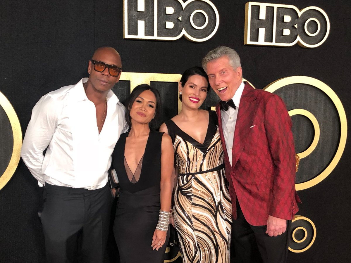 michael buffer on twitter dave chappelle w wife elaine my christine me at hbo emmys party great night today off 2 london for joshuapovetkin wembleystadium letsgetreadytorumble matchroomboxing skysportsboxing eddiehearn dazn usa michael buffer on twitter dave
