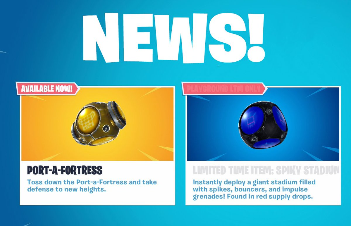 TWO new items in today's Fortnite update - Check them out! 😄  📺 NEW VIDEO: https://t.co/Zj1U5G0x0p  Enjoy! 👍🏻