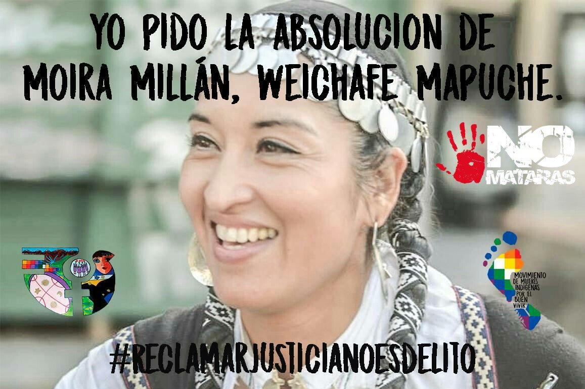 Global Day Of Action For The Absolution Of Moira Millan en el Consulado Argentino en Toronto, Canadá.