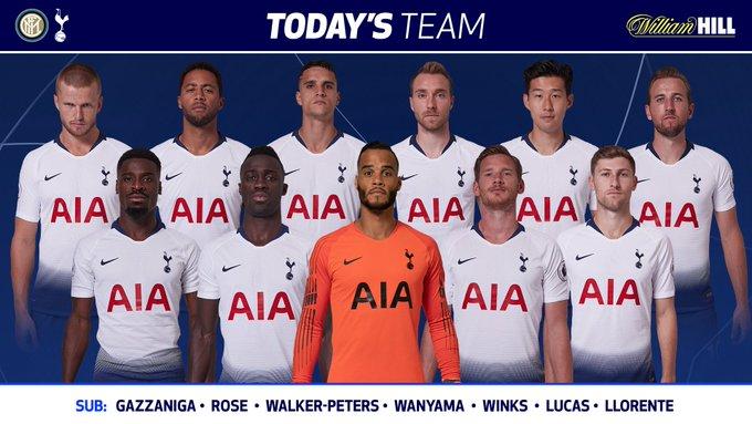 #THFC: Vorm, Aurier, Sanchez, Vertonghen, Davies, Dier, Dembele, Eriksen, Lamela, Son, Kane (C). Latest odds from @WilliamHill 👉 #COYS Photo