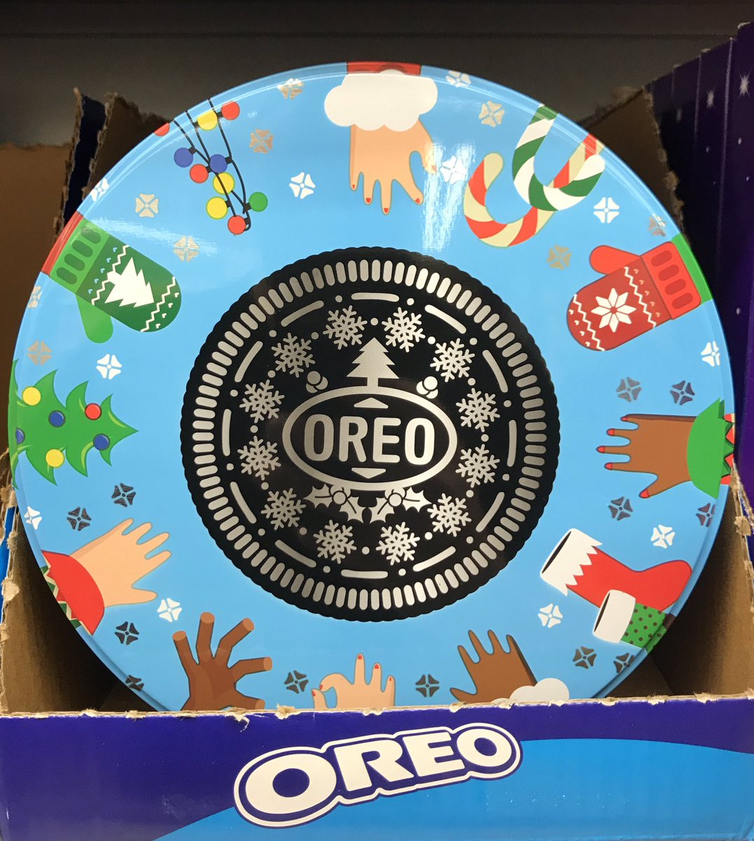Well This Is New On Twitter Festive Oreo Filled Tin At Tesco
