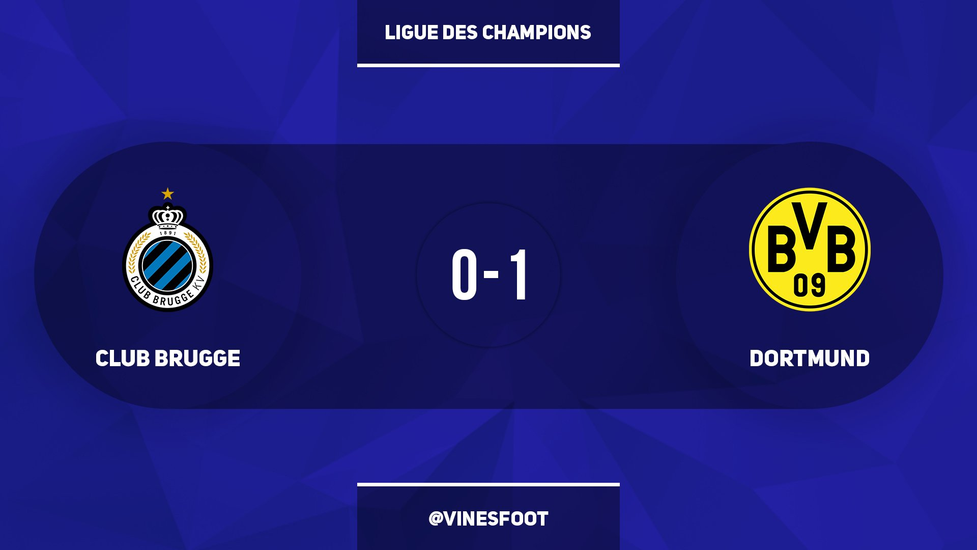 Vines Foot On Twitter Club Brugge 0 1 Dortmund
