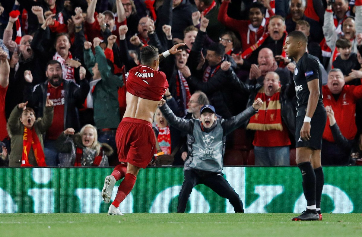 Roberto Firmino fires late winner as Liverpool beat flat PSG @MiguelDelaney at Anfield ind.pn/2DasbJl
