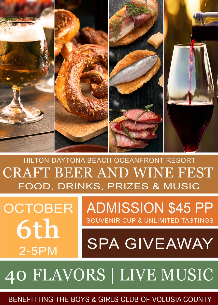 Hilton Daytona Beach Oceanfront Resort On Twitter Looking Forward To Hosting An Craft Beer Wine Fest October 6th