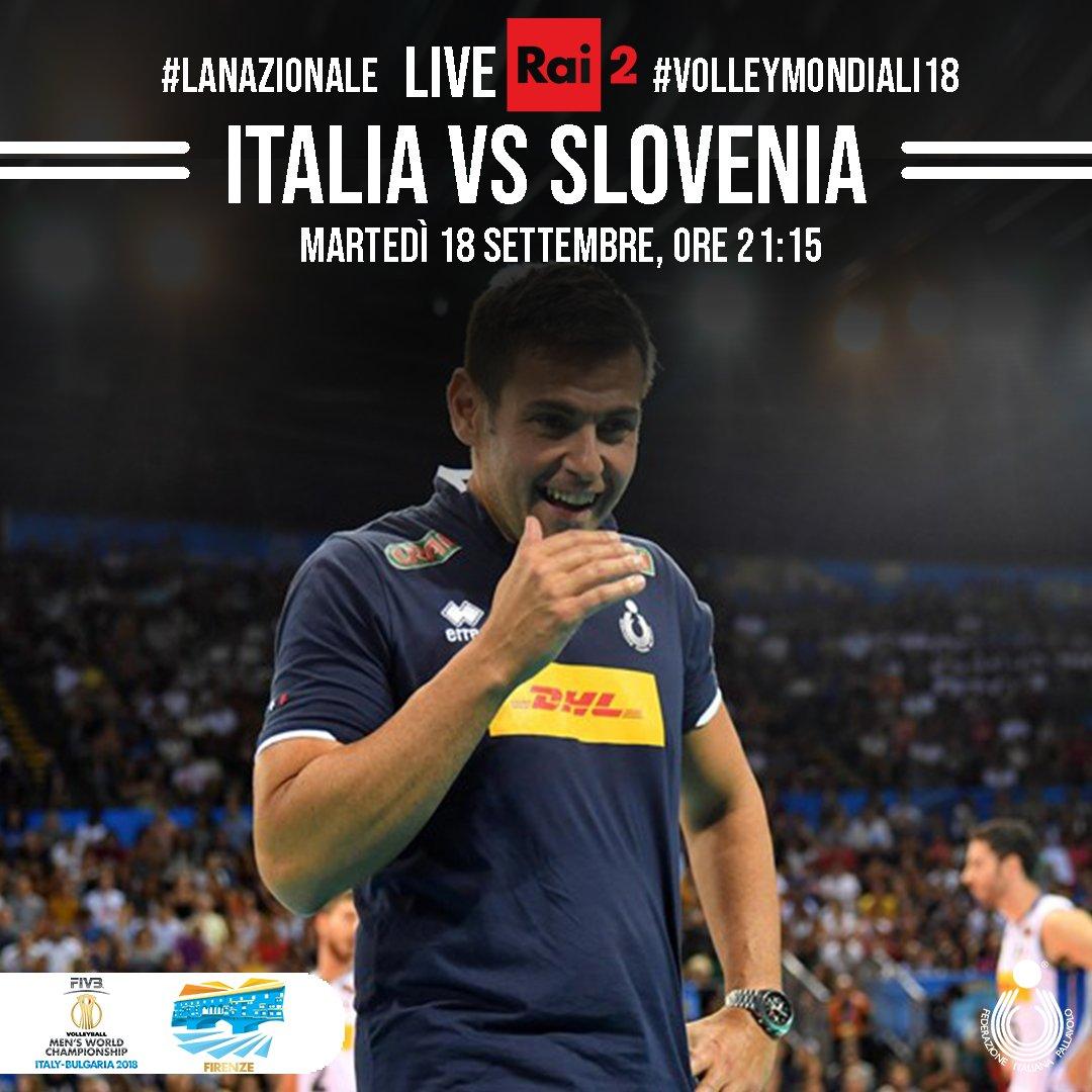 #VolleyMondiali18 Questa sera la partita conclusiva della pool fiorentinaAlle 21.15 il Mandela Forum si tingerà nuovamente di azzurro  per #ItaliaSlovenia  ( diretta @RaiDue )#VolleyballWchs @FIVBVolleyball @SloVolley  - Ukustom
