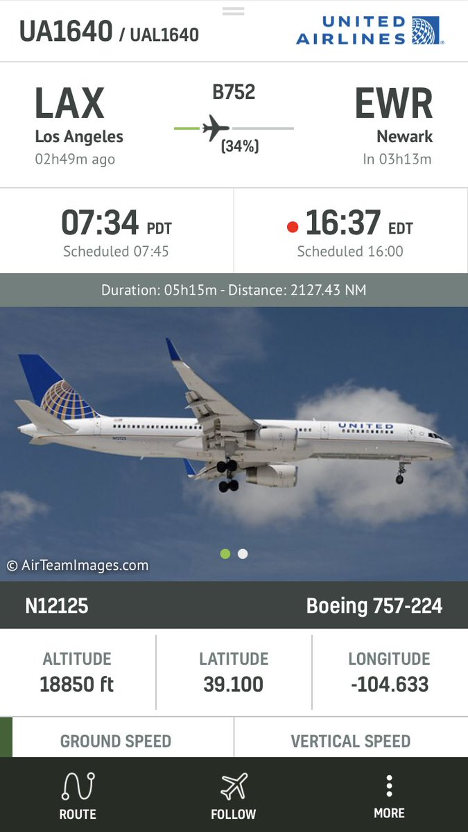 United #UA1640 from LAX to Newark is declaring an emergency and diverting #radarbox https://t.co/mbIC53iHr3
