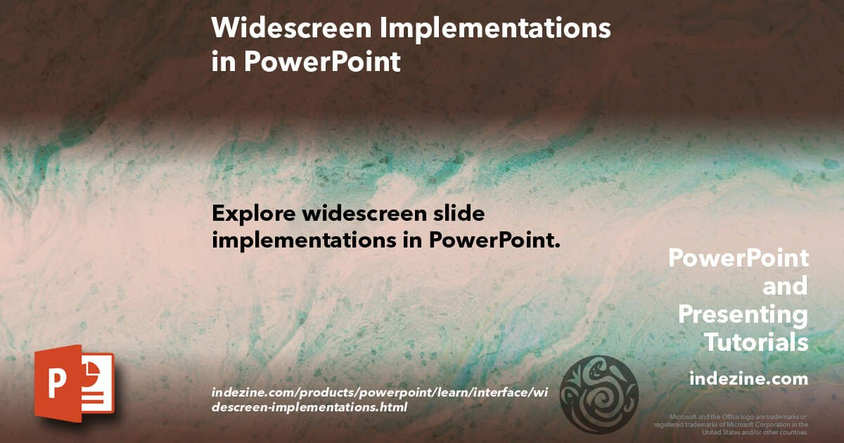 Replying to @Geetesh: Widescreen Implementations in PowerPoint #Indezine   @Geetesh #Design