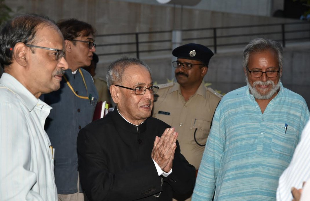 Former President Dr Pranab Mukherjee delivers first lecture at IIM Ahmedabad as distinguished guest faculty