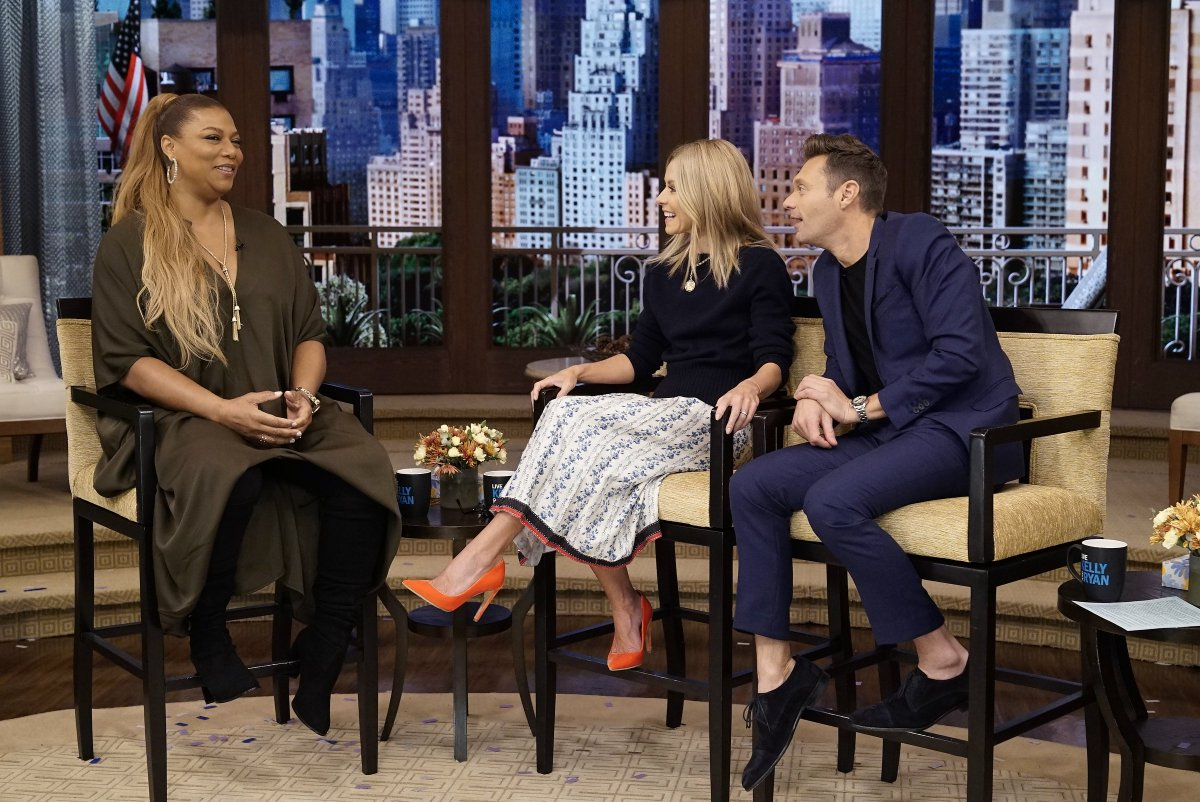 In the presence of royalty @IAMQUEENLATIFAH #kellyandryan