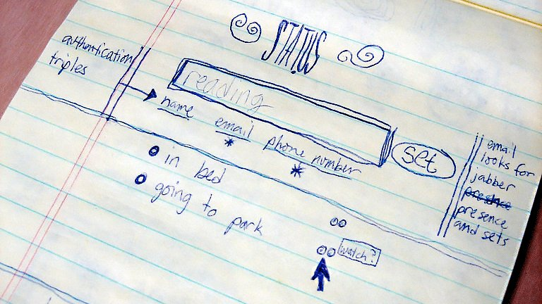 .@jack's very first drawing of us back in 2005. Love ya, Dad!