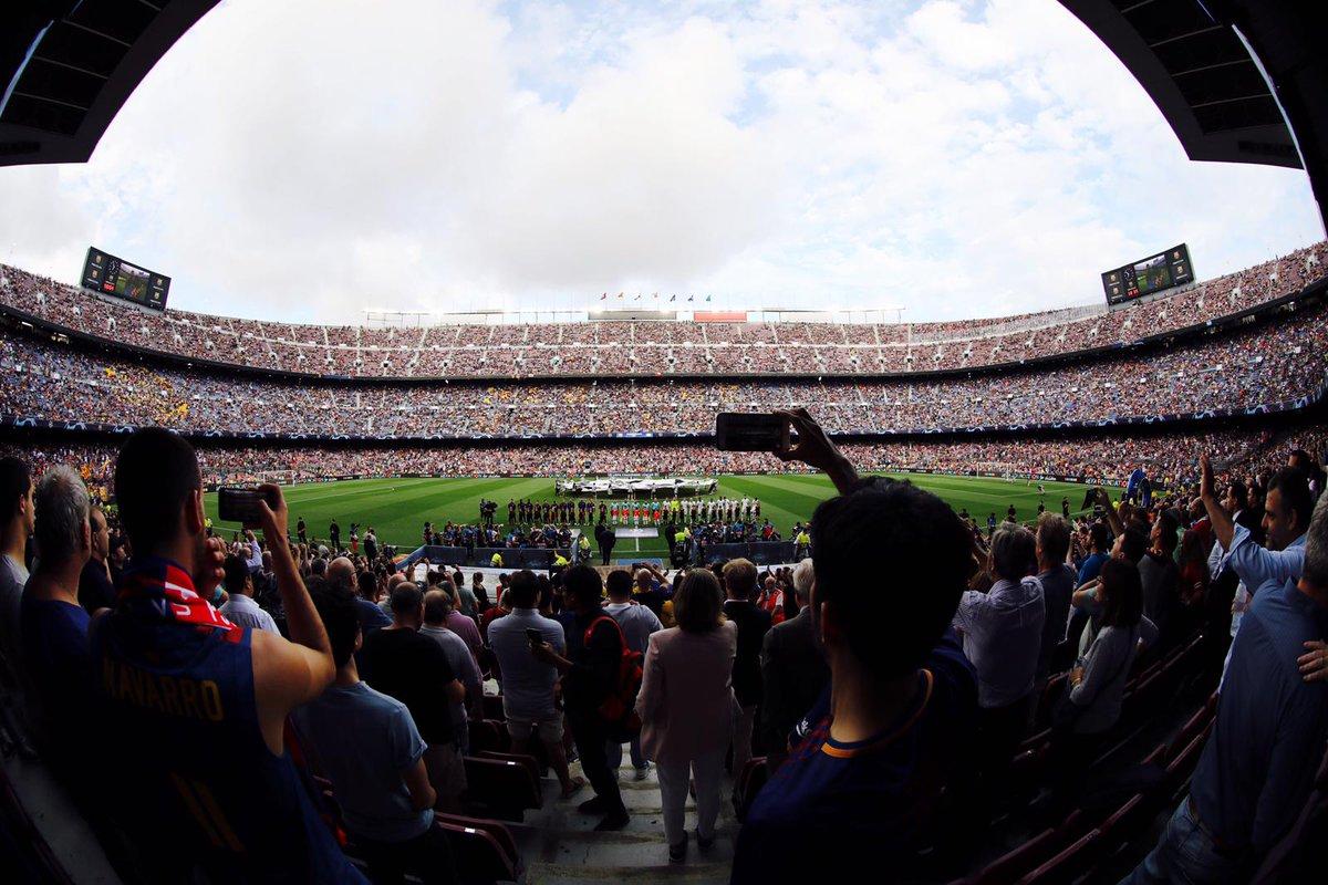 �� Camp Nou crowd today ��  73,462 Thanks, fans! ���� ���� #BarçaPSV https://t.co/3FDyWmgLbE