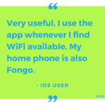 Save on data by connecting Fongo to WiFi when available! #TestimonialTuesday #TuesdayTip