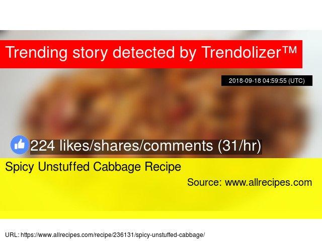 Spicy Unstuffed Cabbage Recipe https://t.co/uzqTXgWC23 https://t.co/jR0JjWXAjJ