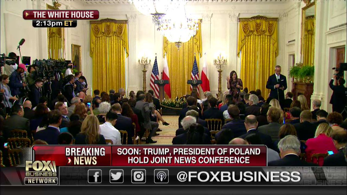 AWAITING: @POTUS and President Duda of Poland to hold a joint press conference at the White House.
