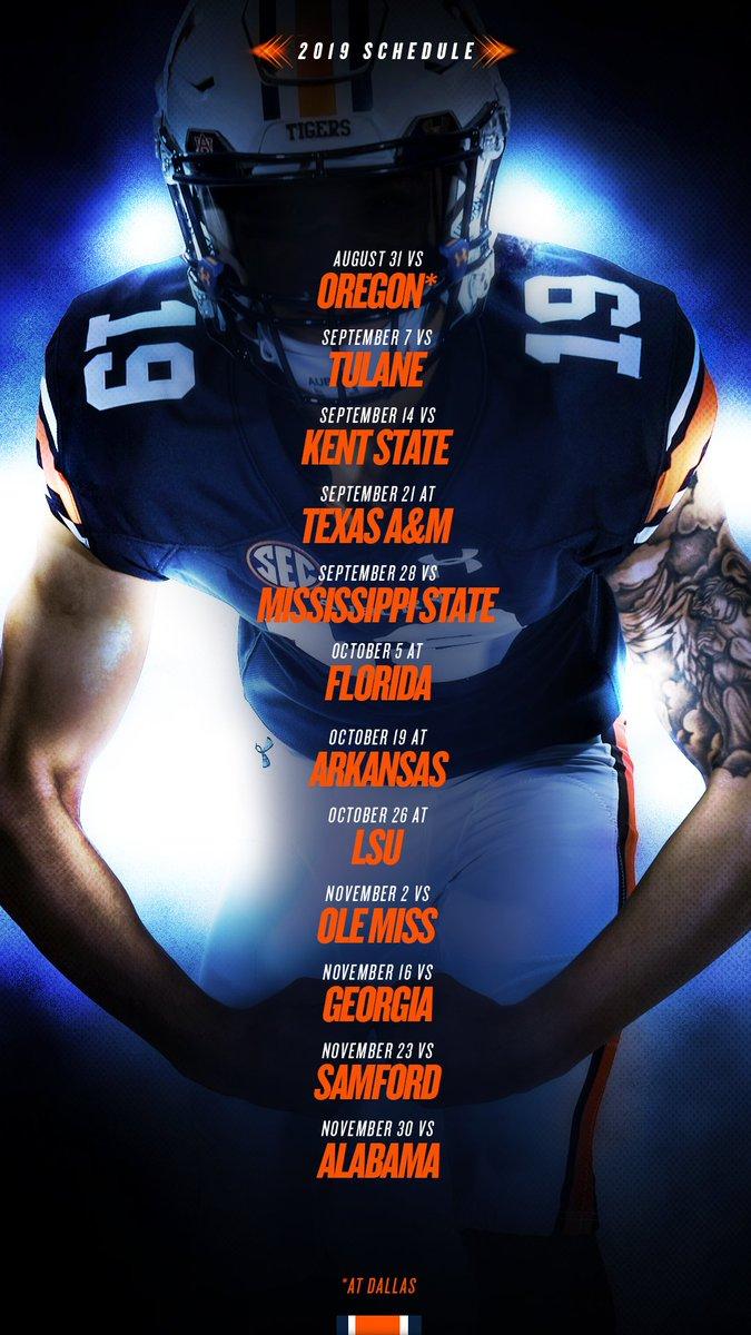 Auburn Football Schedule 2019 Auburn Football on Twitter:
