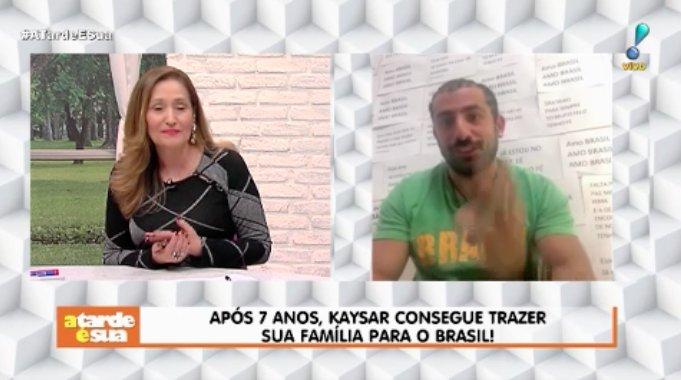 Família de Kaysar chega ao Brasil no próximo sábado (22)! ���� #ATardeESua https://t.co/irIN7Fguv9