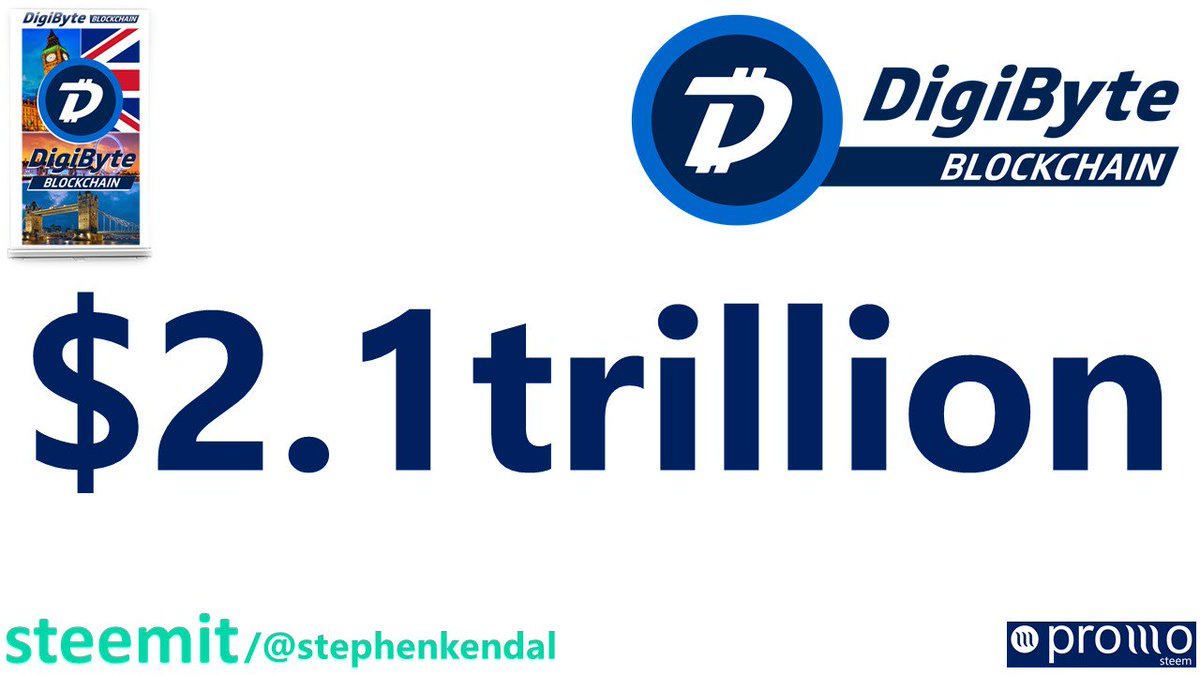 Could the #DigiByte #Blockchain be worth $2.1tn? Well yes!  After today&#39;s news regarding #Brexit, I will be sharing a video shortly explaining exactly why the #DigiByte #Blockchain could be worth $2.1tn. You don&#39;t want to miss this one!  #DGB #DGBAT @DGBAT_Official @DigiByteCoin<br>http://pic.twitter.com/tOX1swwrsw