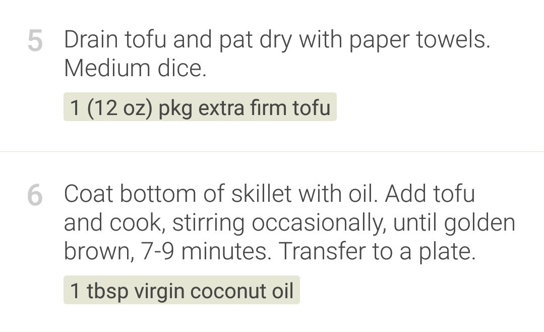 This app has some good recipes but it is hilariously misinformed about how to prepare tofu https://t.co/Lzj7JzijcR