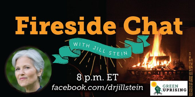 Join me to challenge the illusion of progress in the 2-party system & the desperate attacks on independent voters. Hear about Greens in big winnable races & why the Green Uprising is growing - for people, planet & peace over profit! TONIGHT 8pm ET live at Photo