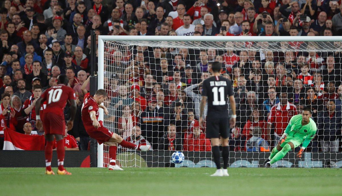H/T Liverpool 2-1 Paris Saint-Germain Follow live: ind.pn/2ODdUXb