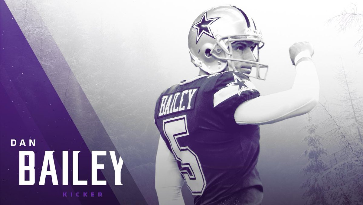 The #Vikings have signed K Dan Bailey and waived WR Stacy Coley.  📰: https://t.co/ogSChjepJx
