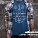 WikiLeaks: Speaking Truth to Power since 2006. Make one of our new tees and hoodies yours -- a great way to support @wikileaks! https://t.co/ZLIvzFw3zh