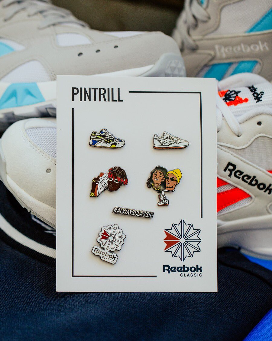#PINTRILL x @ReebokClassics 👟 Buy a pair of #Aztrek's via reebok.com and get an exclusive PINTRILL pin for free 📍