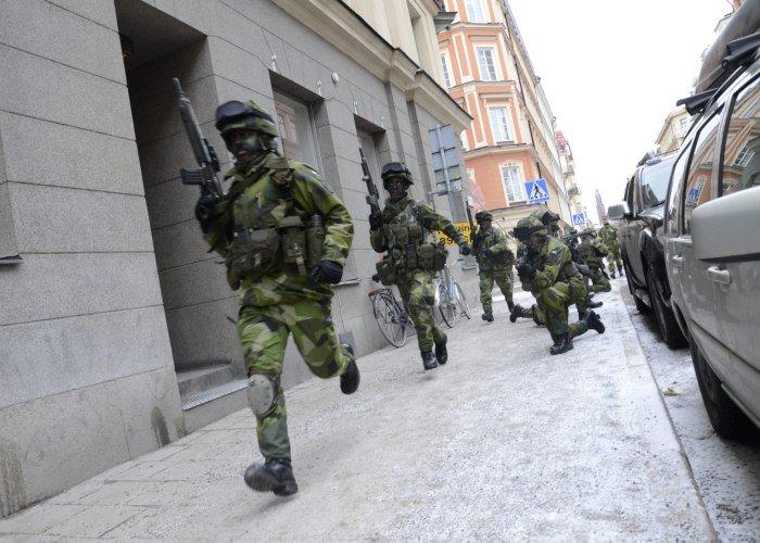 Forsvaret ovar i centrala stockholm